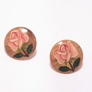 ROY WOLFE DESIGNED BUTTON EARRINGS